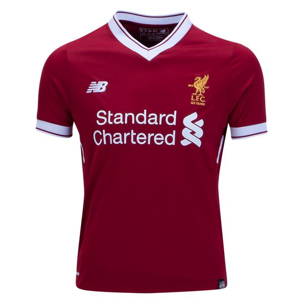 ⚡️ NEW ⚡️  Liverpool FC 2017/18 Youth Home Jersey from New Balance. Available now at WorldSoccerShop.com