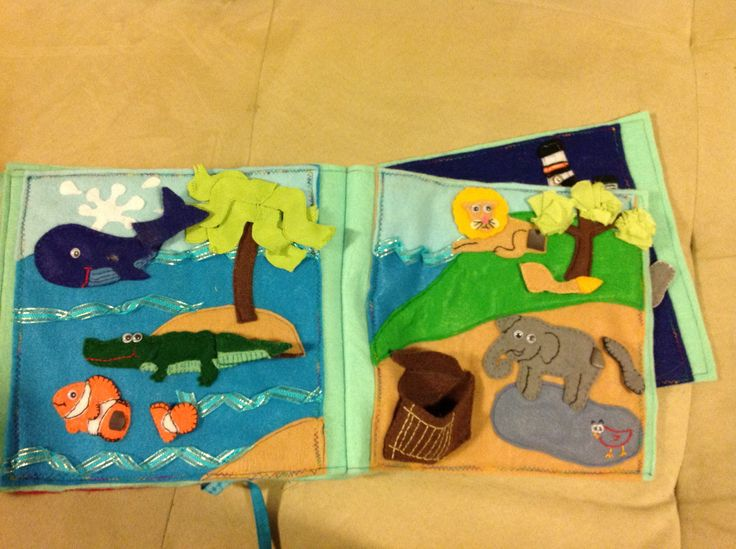 Quietbook page.  Match the tail to the animal.  Original pattern.  Animals based on artwork from www.firstpalette.com.