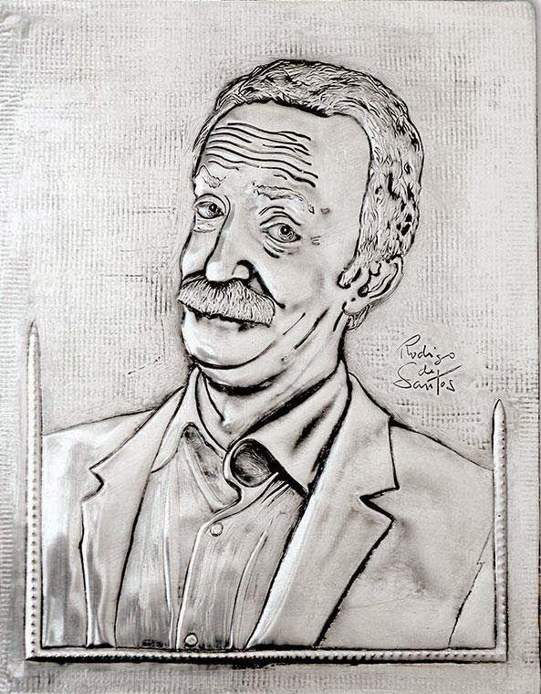 ArteyMetal: Retrato de Santi Rodríguez 2
