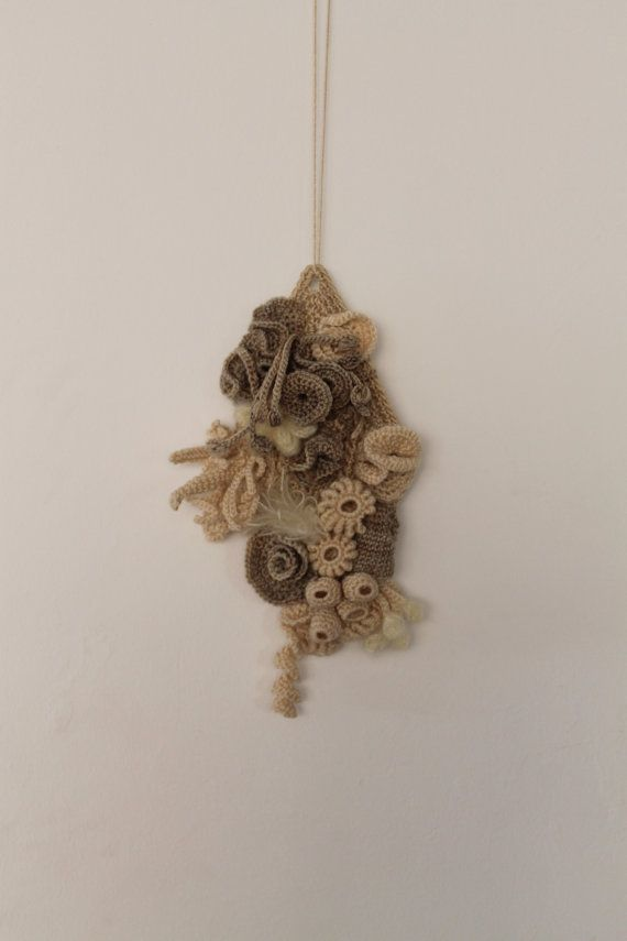 Reserved Coral Reef Freeform Crochet Wall Hanging