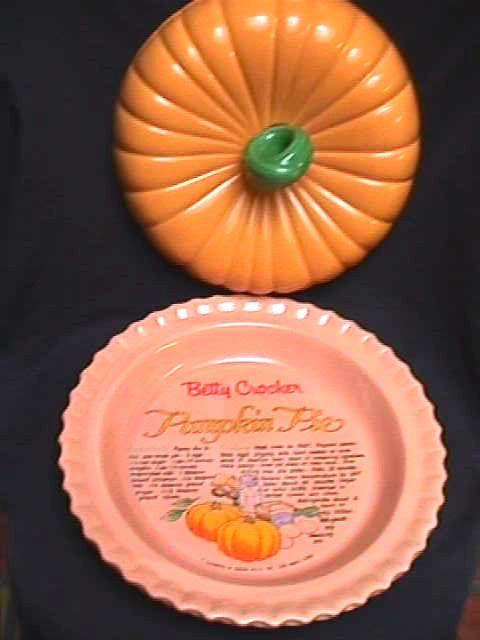 Betty Crocker Pumpkin Covered Ceramic Pie Plate Recipe