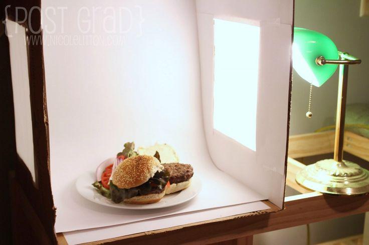 The secret to amazing food photography - DIY Photo Light Box   www.nicolelitton.com
