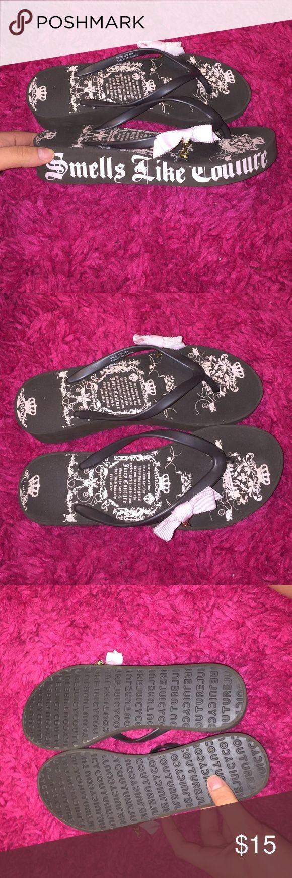Juicy Coture Flip Flops Juicy Coture flip flop wedges brand New never worn Juicy Couture Shoes Sandals