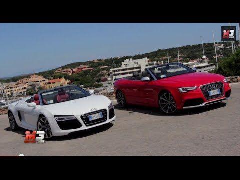 AUDI RS8 SPYDER VS AUDI RS5 CABRIOLET - TEST DRIVE COSTA SMERALDA ONLY SOUND