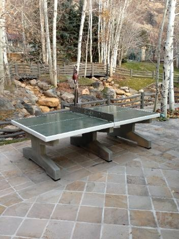 concrete table for ping pong (and dining?)