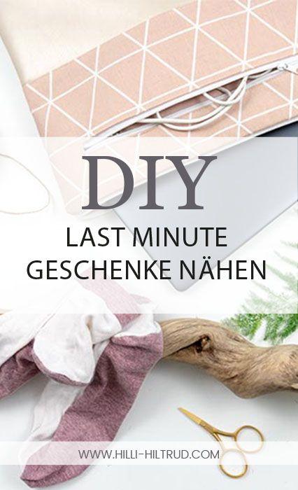Last Minute DIY Geschenke nähen – Eine Sammlung v…
