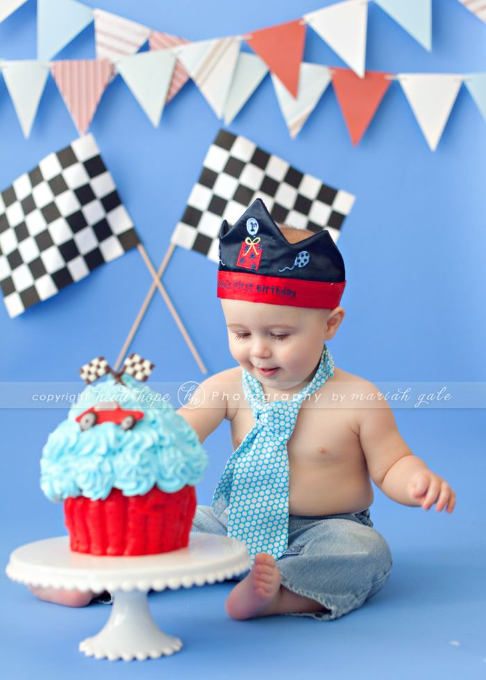 Cute Race Car Theme Baby S First Birthday Ideas In 2019