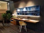 Soggiorno in stile moderno con parquet interior design