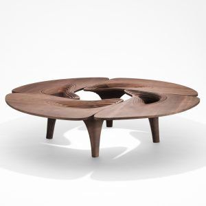 Zaha+Hadid's+final+furniture+collection+for+David+Gill+is+based+on+mid-century+antiques