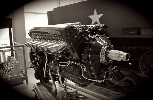 The Rolls-Royce Merlin: A British-made, liquid-cooled V-12 piston aero engine of 27-litres (1,650 cu in). The greatest piston engine ever built.