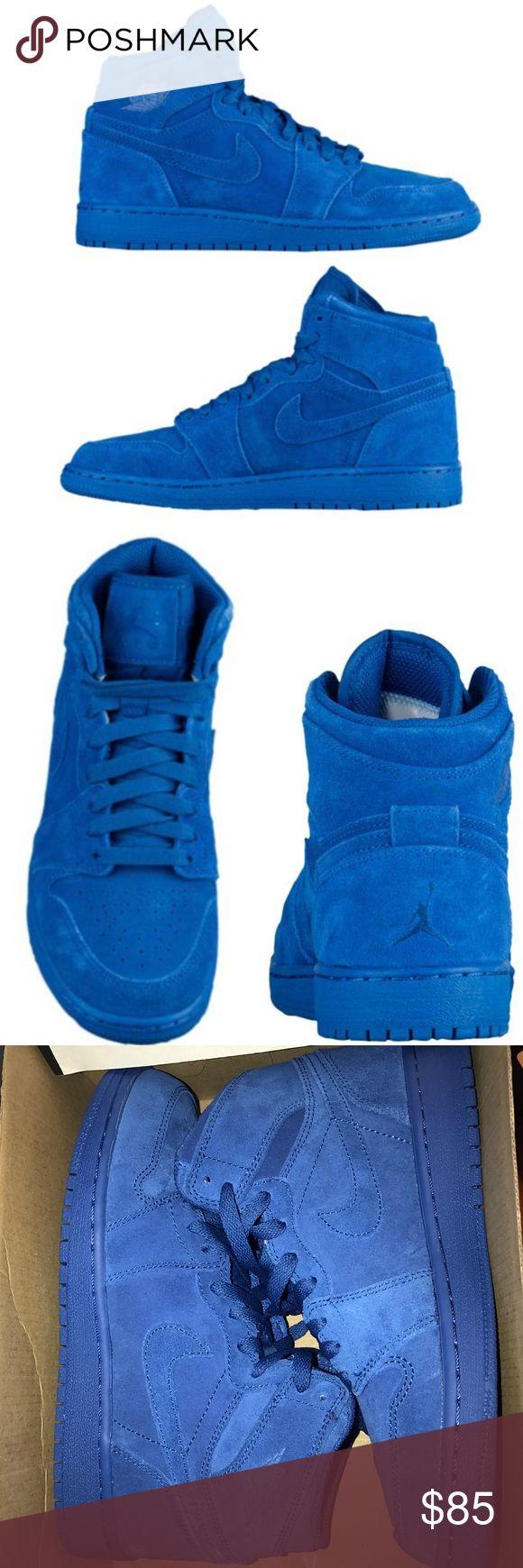 Air Jordan Retro 1 Suede Blue / Fits a Women's 7.5 Nike Shoes Sneakers