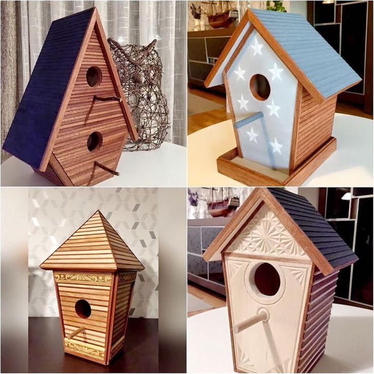 Casas de pájaros de madera hechas a mano 100%. de ColorfulWoodStore en Etsy