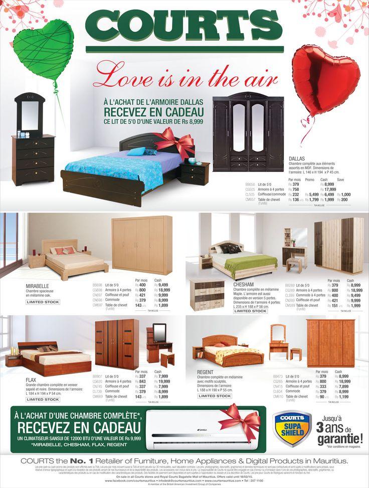 Courts bedroom furniture