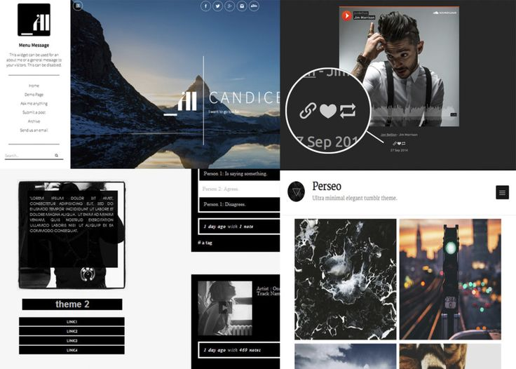 60 Temas para Tumblr gratis elegantes y limpios # Si estás buscando temas para Tumblr, aquí encontrarás una impresionante selección de themes para todos los gustos que te permitirán personalizar al máximo tu blog en esta plataforma.  Dentro de las alternativas más recomendables para introducirnos ... »