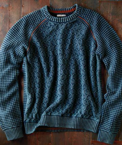 Chainlink Sweater-Carbon 2 Cobalt