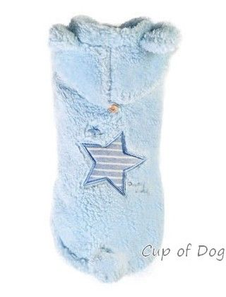 Manteau chien Star Boa Blue Puppy Angel https://www.cupofdog.fr/vetement-chihuahua-manteau-petit-chien-xsl-246.html