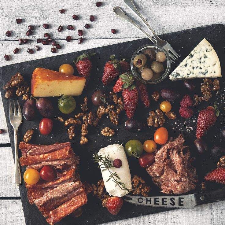 What better way to ring in the new year than with a platter of the most delicious foods! Just grab a nice baguette and some fresh olive oil and enjoy the party!