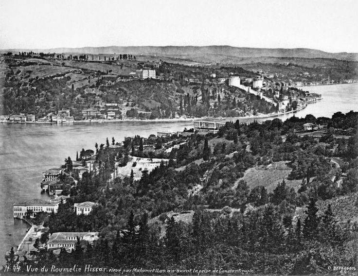 ABD'den çıkan görülmemiş Osmanlı fotoğrafları -  Vaniköy, Kandilli, Rumeli Hisarı Genel Görünüm 1900
