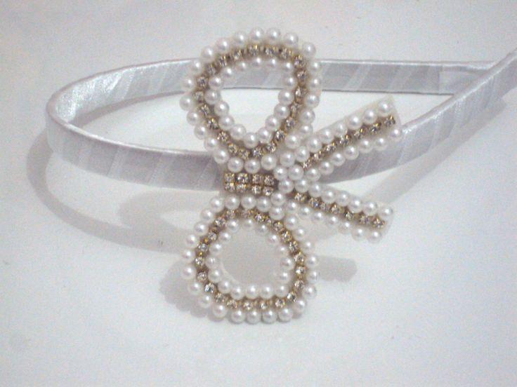 Tiara Laço Princesa 'Branco'