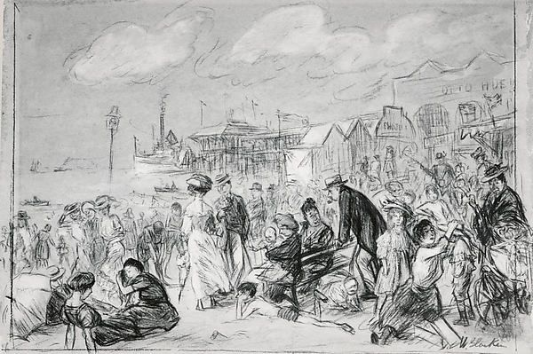 William James Glackens (American, 1870–1938). Morning at Coney Island, ca. 1907–09. The Metropolitan Museum of Art, New York. Bequest of Charles F. Iklé, 1963 (64.27.8)