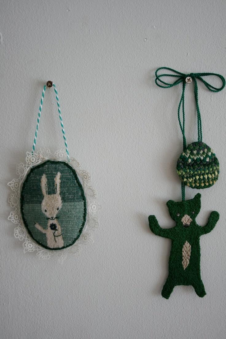Ornaments by Japanese illustrator, Piu Sudo.: Crochet, Hand I Craft, Inspirations Ii, Tapestry Inspiration, Textile