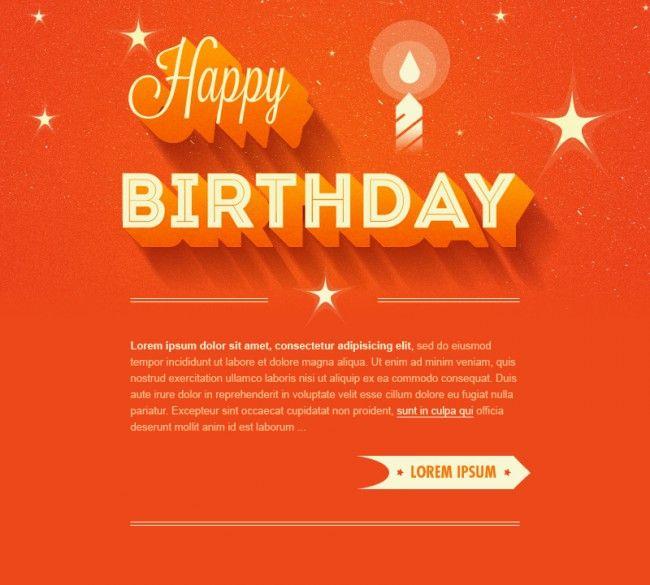 Felicita los cumpleaños por mailing gracias a esta original plantilla