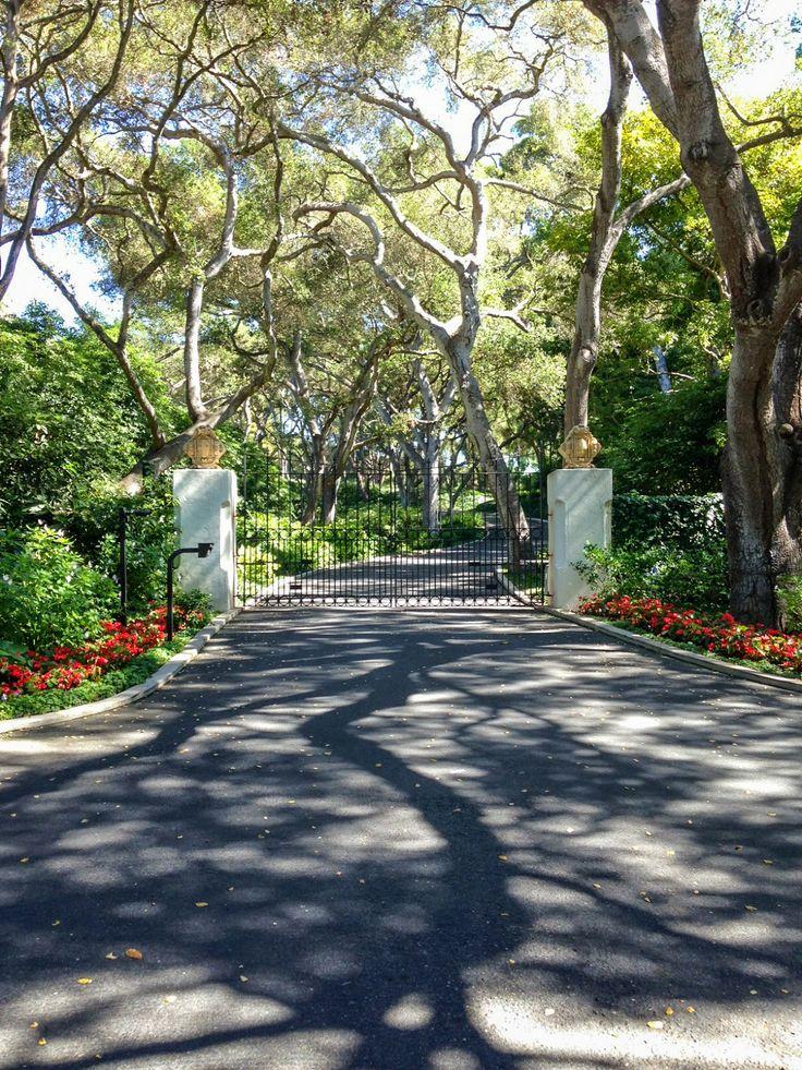 Santa Barbara Hope Ranch Tree Lined Driveway Modern