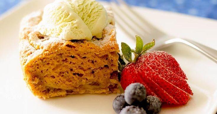 グルテンフリー、ヴィーガンのルバーブプディングケーキです。別のフルーツでも作れます。★by ヘルスコーチ★
