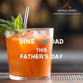 Social media post design for Tandoori Flames restaurant.  #SocialMedia GraphicDesign #Facebook #Instagram #FathersDay