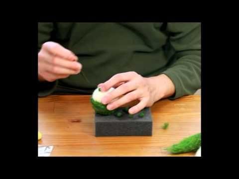 Woolbuddy needle felting frog
