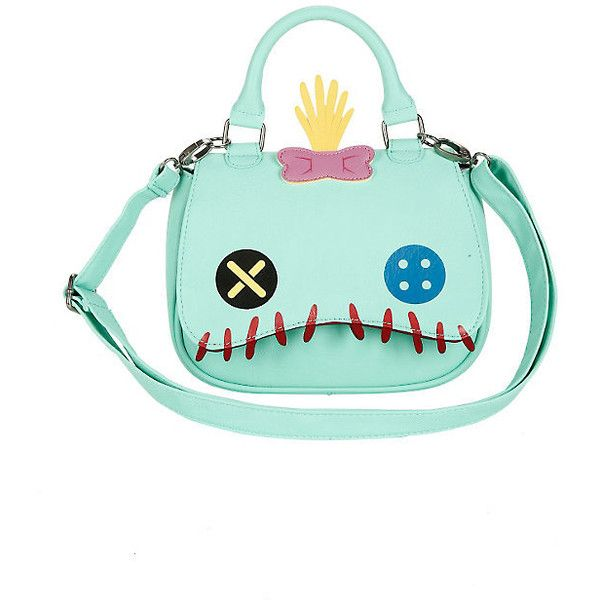 Loungefly Disney Lilo Stitch Scrump Face Mini-Saddle Bag Hot Topic (£23) ❤ liked on Polyvore featuring bags, handbags, shoulder bags, mini shoulder bag, flap handbags, bow handbag, green handbags and saddle bags