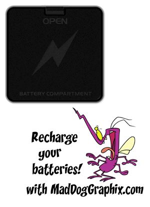 Animated GIF: 2 D cell batteries in battery compartment by MadDogGraphix.com