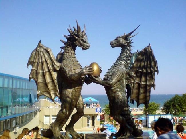 Pair of Dragons in Love, Varna, Bulgaria