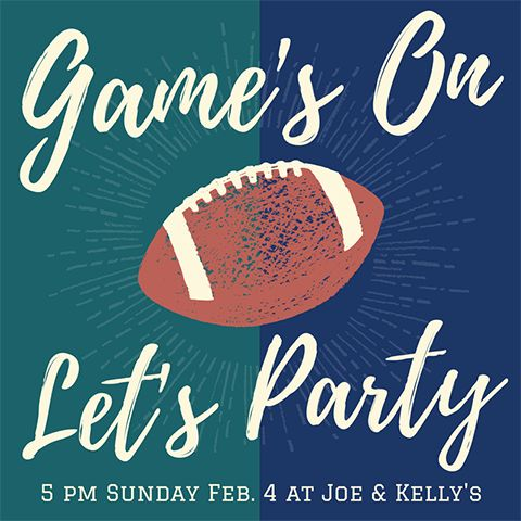 Easy DIY Super Bowl 2018 Party social media invitation template with football. Created by ArtnerDluxe in Canva. Customize your own version @ https://www.canva.com/artnerdluxe. Art elements © ArtnerDluxe www.artnerdluxe.com #superbowl #football #gameday #canva #graphicdesign #template