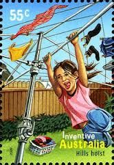 hills hoist on stamp - Google Search - happy child swinging on hills hoist • Adelaide city icon • riawati • hills rotary clothes hoist