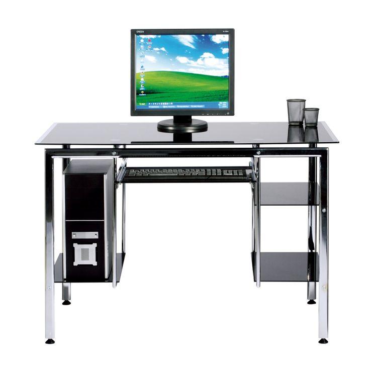 metall glas computer schreibtisch bro mbel fr zu hause berprfen sie mehr unter http - Kompakte Computerschreibtische Fr Zuhause