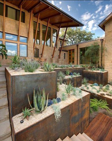 exterior; desert landscaping