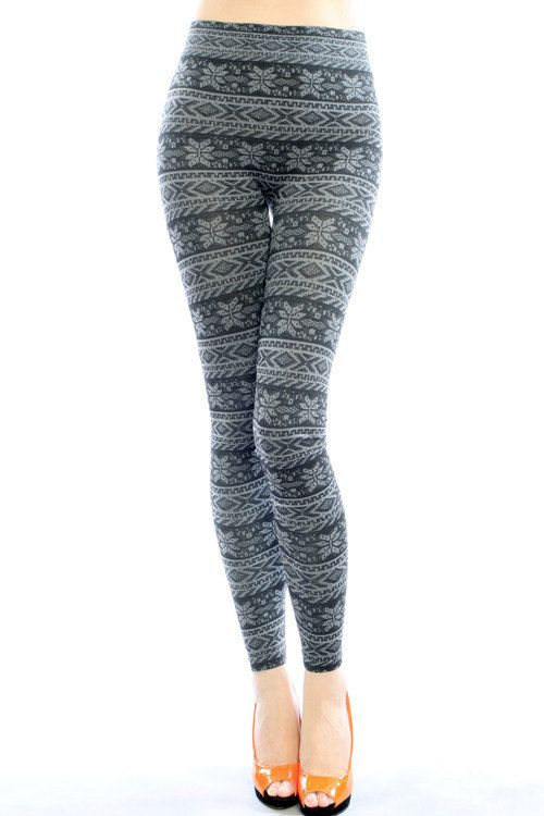 Winter Leggings Women's Fleece Leggings With Egyptian Floral Very Comfortable Hot and Heavy Thick Material One Size Fits All on Etsy, $14.99