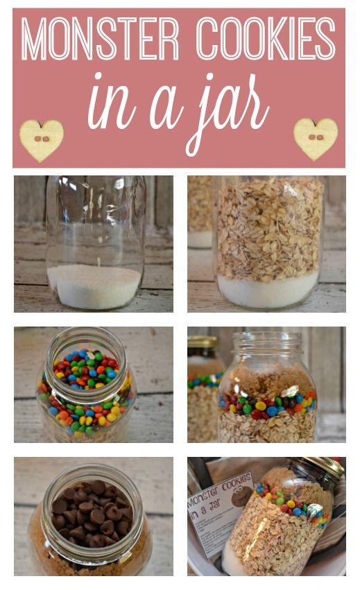 end of the year teacher gift, teacher gifts, DIY teacher gifts, One Smart Cookie teacher gift, Monster Cookies in a Jar, cookies in a jar, cookies in a jar recipe,