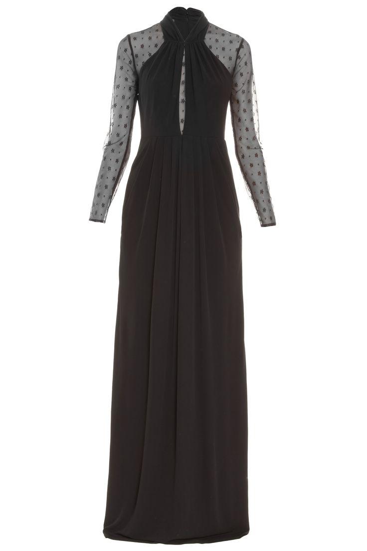 Long Draped Amber Dress