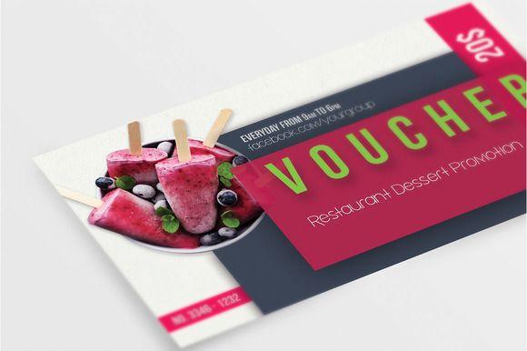 Multipurpose Restaurant Voucher  by SoftLogic on @creativemarket