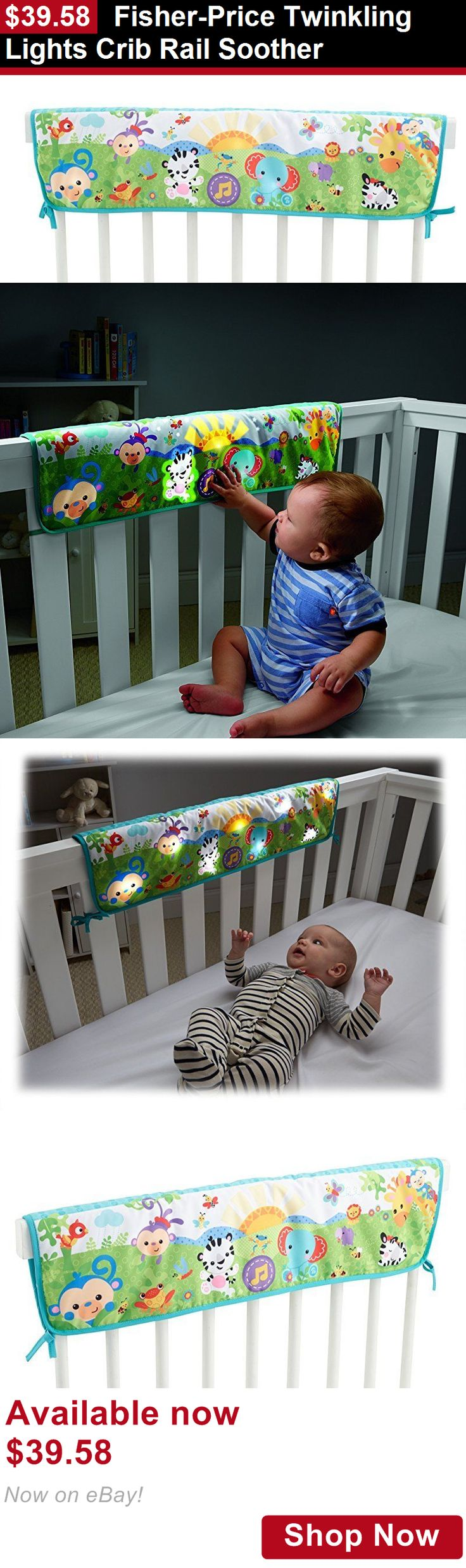 Crib Toys: Fisher-Price Twinkling Lights Crib Rail Soother BUY IT NOW ONLY: $39.58