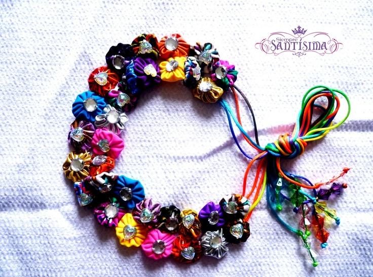 Balaca Doble  Color: multicolores o por tonos deseados  Confección Manual. Si deseas adquirir los productos de Siempre Santísima, comunícate al 301 418 61 66