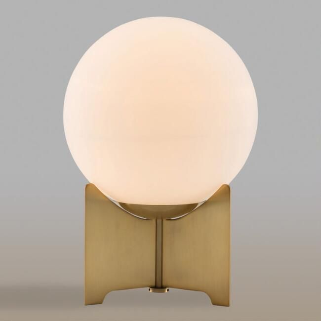 The Frosted Bulb On This Mid Century Lamp Adds An Understated Elegance To The Geometric And Mid Century Shap Mid Century Table Lamp Table Top Lamps Modern Lamp