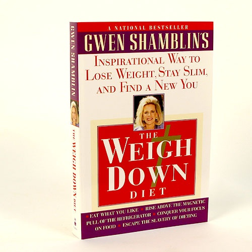 A must have if you are just starting the Weigh Down program (over 1 million sold!)!! Gwen Shamblin's groundbreaking approach to weight loss has taught hundreds of thousands of people how to remove the irresistible desire for food. People who have had no control over their late-night binges have learned that they can prevail against the siren call of the refrigerator - because The Weigh Down Diet is not focused on food but turns the participant to God instead. -$13.00: Must Reading, Changing Life, Weight Loss, Irresist Desire, Groundbreak Approach, Gwen Shamblin, Weights Loss, Taught Hundreds, Life Changing Books