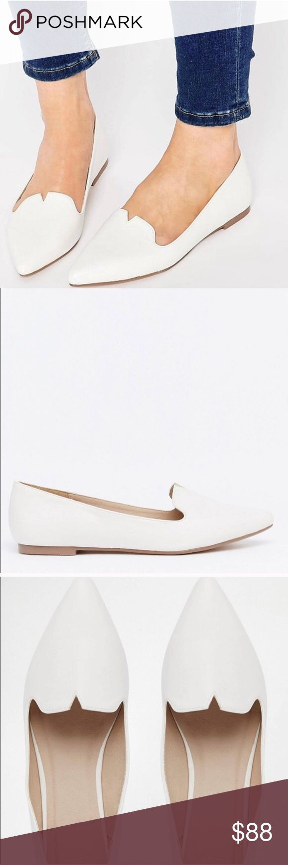 ASOS Louisiana Pointed Ballet Flats Size 9 Cute notch detail. NWT 😍😍 ASOS Shoes Flats & Loafers