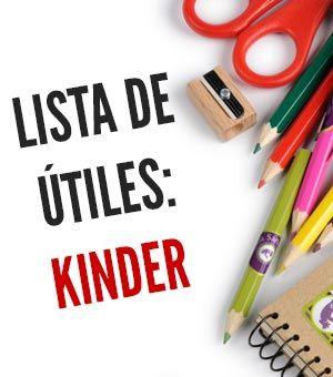 Lista de útiles escolares: Kinder