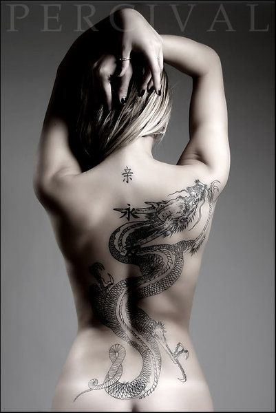 Dragon Back Tattoos For Women | Dragon Tattoos – I am thinking of getting a tattoo amy but where I can see it...