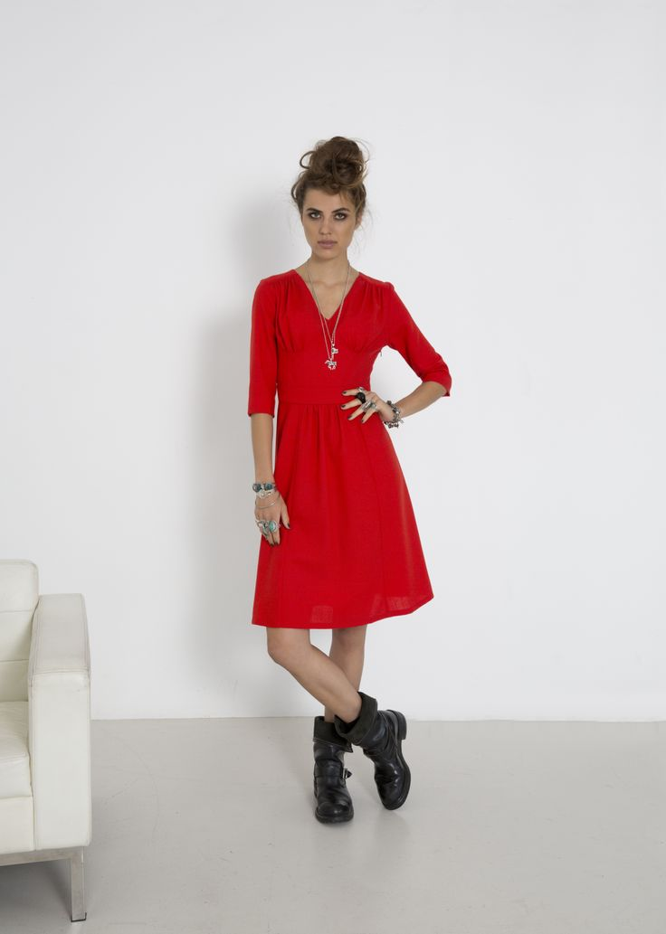 Times Square Dress - Persimmon