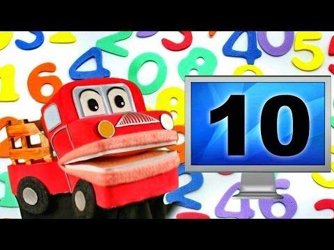 Barney el camion - Los Numeros del 1 al 10 - Canciones Infantiles Educativas - Video para niños # - YouTube
